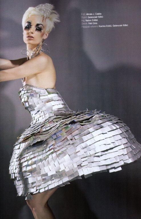 Fashin Travel magazin - Hulladék ruha fotósás (extrém smink)