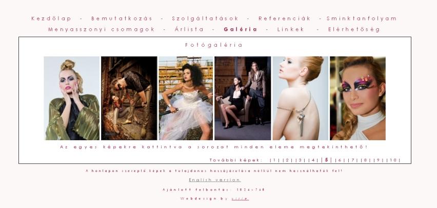 Sminkes honlap Reti Dora Sminkes image honlapom