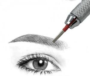 Hair Stroked Round Needles for Eyebrow Tattoo Manual Microblading Pen Semi Permanent Makeup Fog Pen Needle Pack of 50 pcs 3R 0 0 300x252 Púderes természetes hatású szemöldöktetoválás